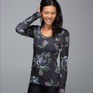 Lululemon long sleeve scoop back garden party top